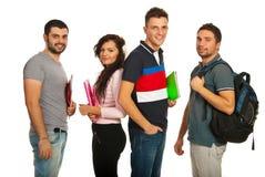 De groep van studenten Stock Afbeelding