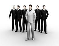 De groep van zakenman zes royalty-vrije illustratie