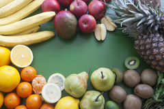 De groep vruchten close-up Stock Afbeeldingen