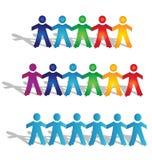 De groepen van het groepswerk mensen stock illustratie