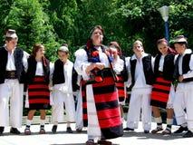 De groepsâJunii CosÄuluiâ van de volksmuziek Stock Foto's