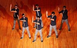 De groepsdans van Poreotix bij de Internationale kop van Hip Hop stock foto