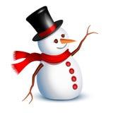 De groet van de sneeuwman Stock Afbeeldingen