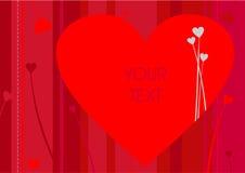 De groet van de valentijnskaart Stock Afbeeldingen
