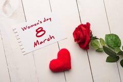 De groet van de vrouwens dag stock foto