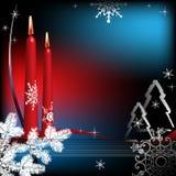 De groet van de winter met kaarsen vector illustratie