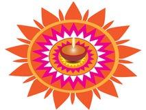 De Groet van diyadiwali van Diwali van het Diwalibehang Stock Fotografie