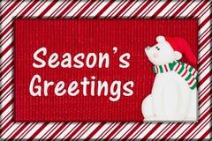 De Groet van het Kerstmisseizoen ` s Stock Foto