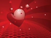 De Groet van de Valentinsdag met 3d Hart Stock Foto