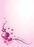 De Groeten van de valentijnskaart stock illustratie
