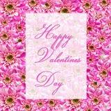 De groeten van valentijnskaarten stock fotografie