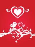 De groetenkaart van de liefde Stock Foto's