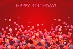 De groetenkaart van de verjaardag met ballon Stock Foto