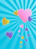 De groetenkaart van harten Royalty-vrije Stock Afbeelding