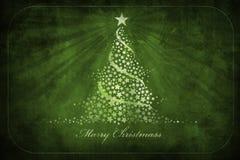 De groetenkaart van Kerstmis grunge Royalty-vrije Stock Foto's