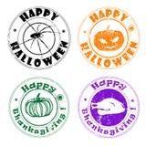 De groetenzegels van de herfst Royalty-vrije Stock Foto's
