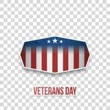 De groetetiket van de veteranendag met Tekst vector illustratie