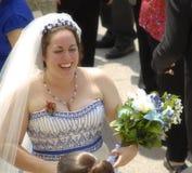 De groetgasten van de bruid stock foto's