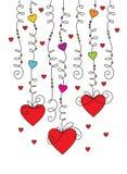 De groetkaart 01 van de valentijnskaart Stock Foto