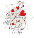 De groetkaart 05 van de valentijnskaart Stock Foto