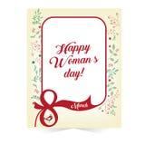De groetkaart maart van de vrouwens dag Stock Foto's