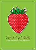 De groetkaart van aardbeien. Stock Foto