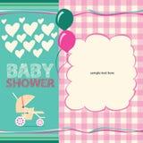 De groetkaart van de babydouche Stock Fotografie