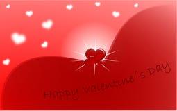 De groetkaart van de Dag van de rode Valentijnskaart Stock Afbeeldingen