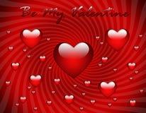 De groetkaart van de Dag van de valentijnskaart Royalty-vrije Stock Foto's