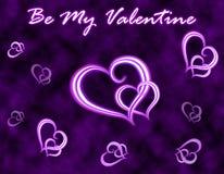 De groetkaart van de Dag van de valentijnskaart stock afbeelding