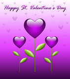 De groetkaart van de Dag van de valentijnskaart Stock Foto's