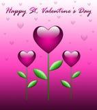 De groetkaart van de Dag van de valentijnskaart Royalty-vrije Stock Foto