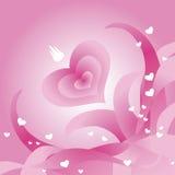 De groetkaart van de Dag van de valentijnskaart royalty-vrije illustratie