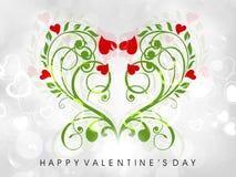 De groetkaart van de Dag van de valentijnskaart of giftkaart Royalty-vrije Stock Afbeelding