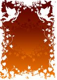 De groetkaart van de Dag van de valentijnskaart met bloemenhart op grunge backg Stock Afbeelding