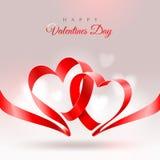 De groetkaart van de Dag van valentijnskaarten Stock Foto's