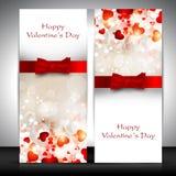 De groetkaart van de Dag van valentijnskaarten Stock Afbeelding
