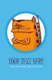 De groetkaart van de kat. Royalty-vrije Stock Afbeelding