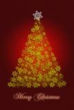 De groetkaart van de kerstboom royalty-vrije stock afbeelding