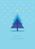 De groetkaart van de kerstboom Royalty-vrije Illustratie
