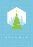 De groetkaart van de kerstboom Vector Illustratie