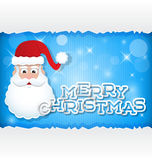 De groetkaart van de Kerstman Royalty-vrije Stock Fotografie