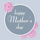 De Groetkaart van de moeder` s Dag Vector illustratie Stock Afbeelding