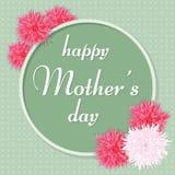 De Groetkaart van de moeder` s Dag Vector illustratie Royalty-vrije Stock Afbeeldingen