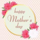 De Groetkaart van de moeder` s Dag Vector illustratie Stock Foto's