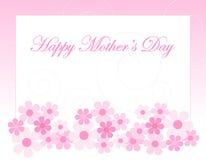 De groetkaart van de moederdag Stock Afbeelding
