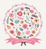 De groetkaart van de moederdag Royalty-vrije Stock Afbeeldingen