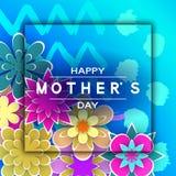 De Groetkaart van de Mother'sdag stock illustratie