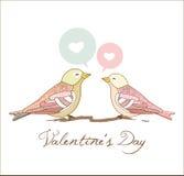 De groetkaart van de valentijnskaart Stock Afbeeldingen