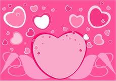 De groetkaart van de valentijnskaart Stock Afbeelding